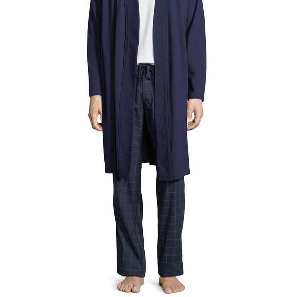 3df52ccfa2 NWT Ugg Mens Flynn Check Blue Lounge Pants Cotton